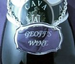 Wine/Decanter Label Silvertone  PERSONALISED ref WL01